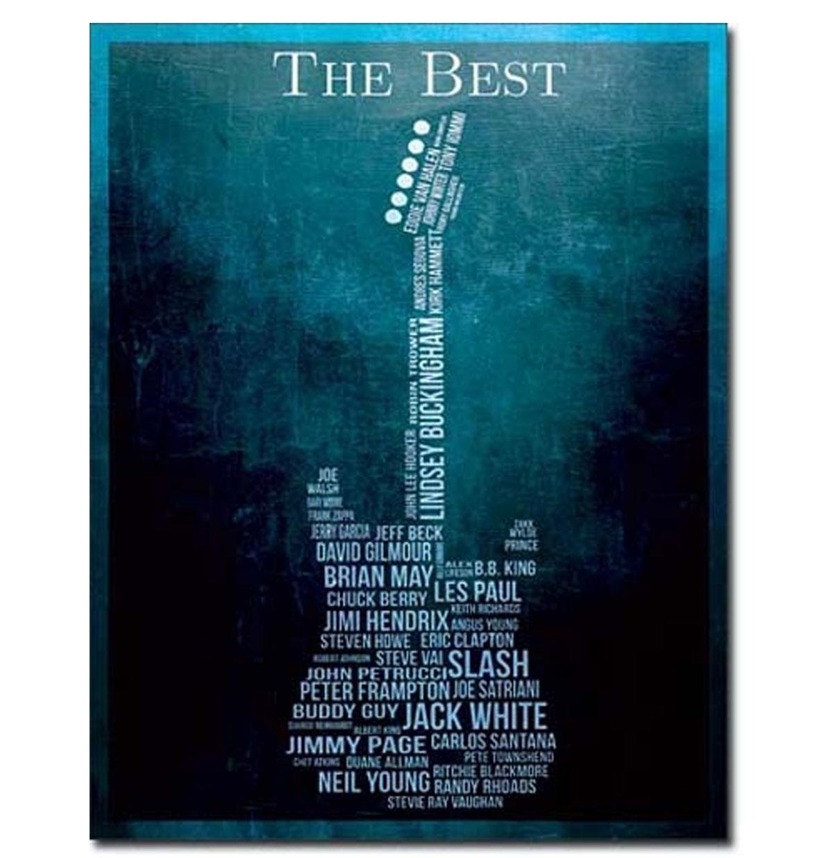Metalen Poster - The Best Guitarists