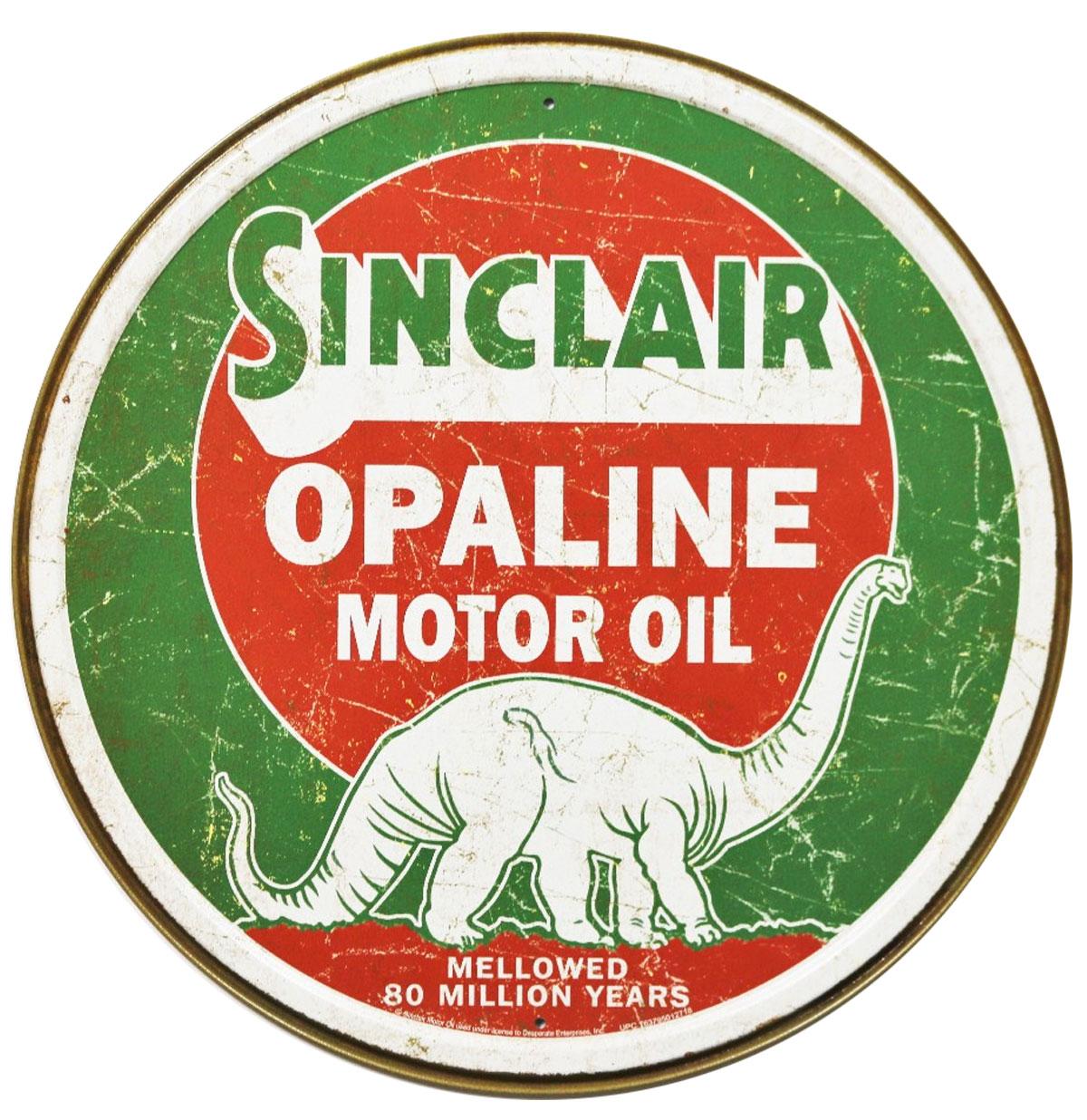 Sinclair Opaline Motor Oil Metalen Poster