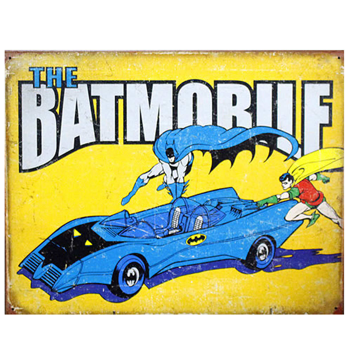 The Batmobile Metalen Poster
