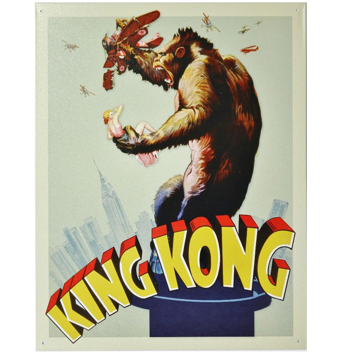 King Kong Metalen Poster