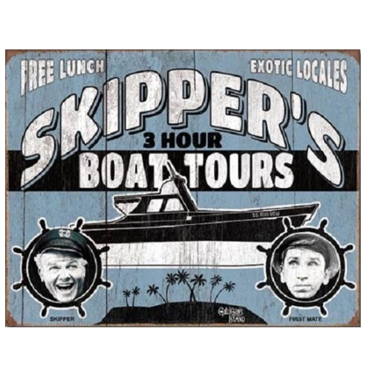 Skipper 3 Hours Boat Tours Metalen Poster