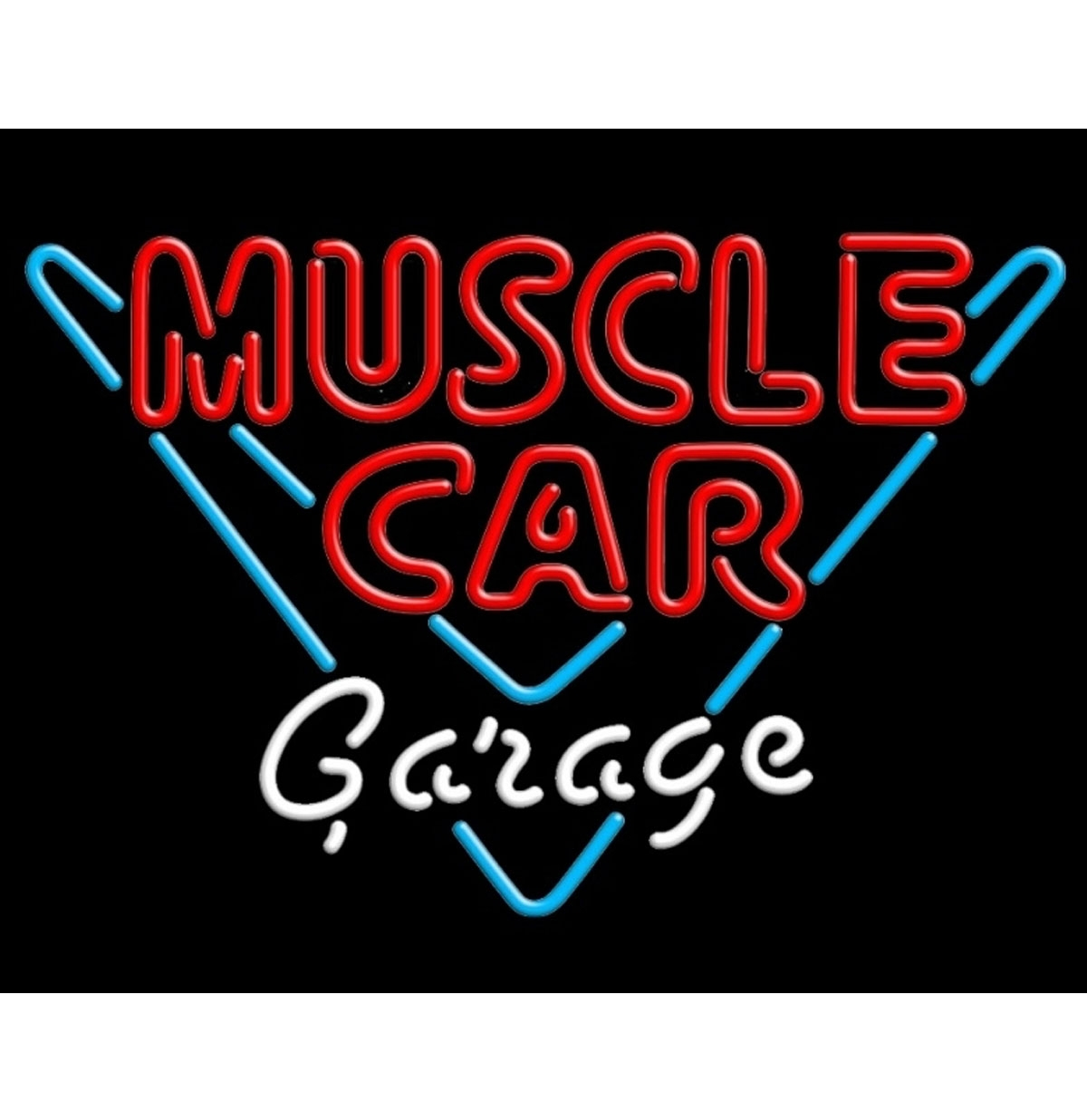 Muscle Car Garage Neon Verlichting