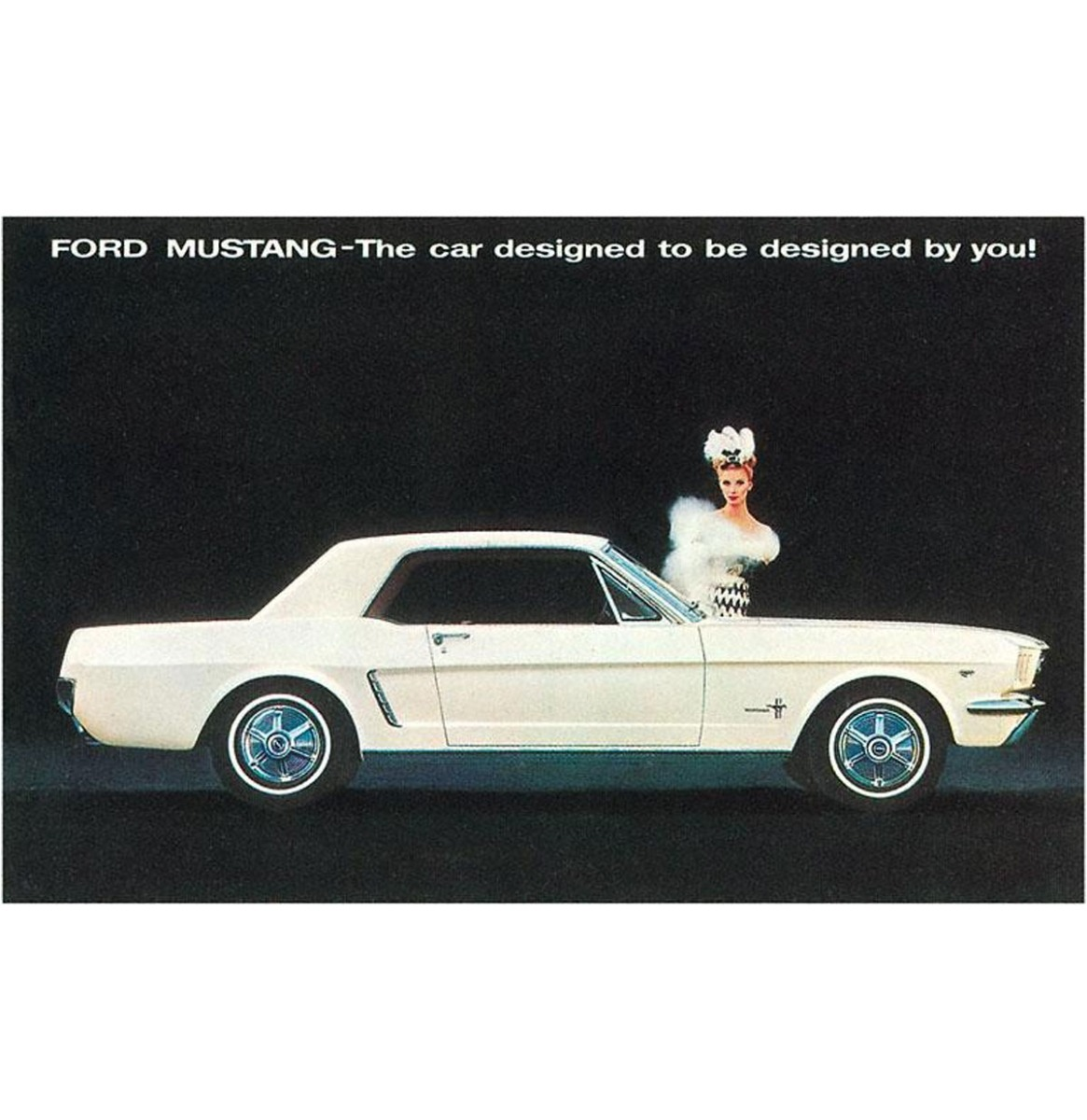 Mustang - Vintage Foto, Kunst Afdruk
