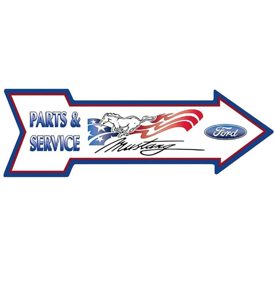Ford Mustang Parts & Service Pijl Aluminium Bord 69 x 21 cm