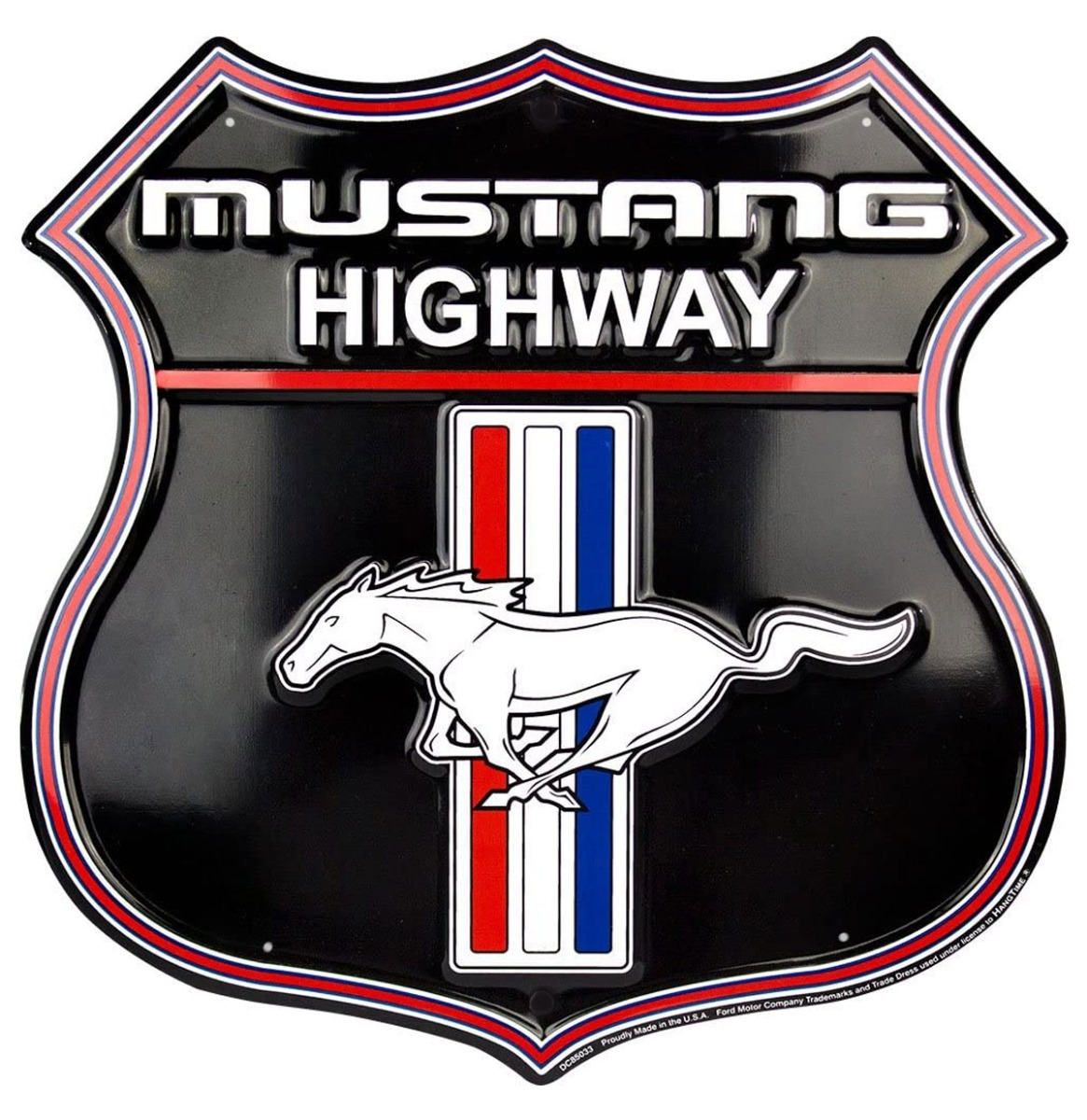 Ford Mustang Highway Metalen Bord 60 x 58 cm