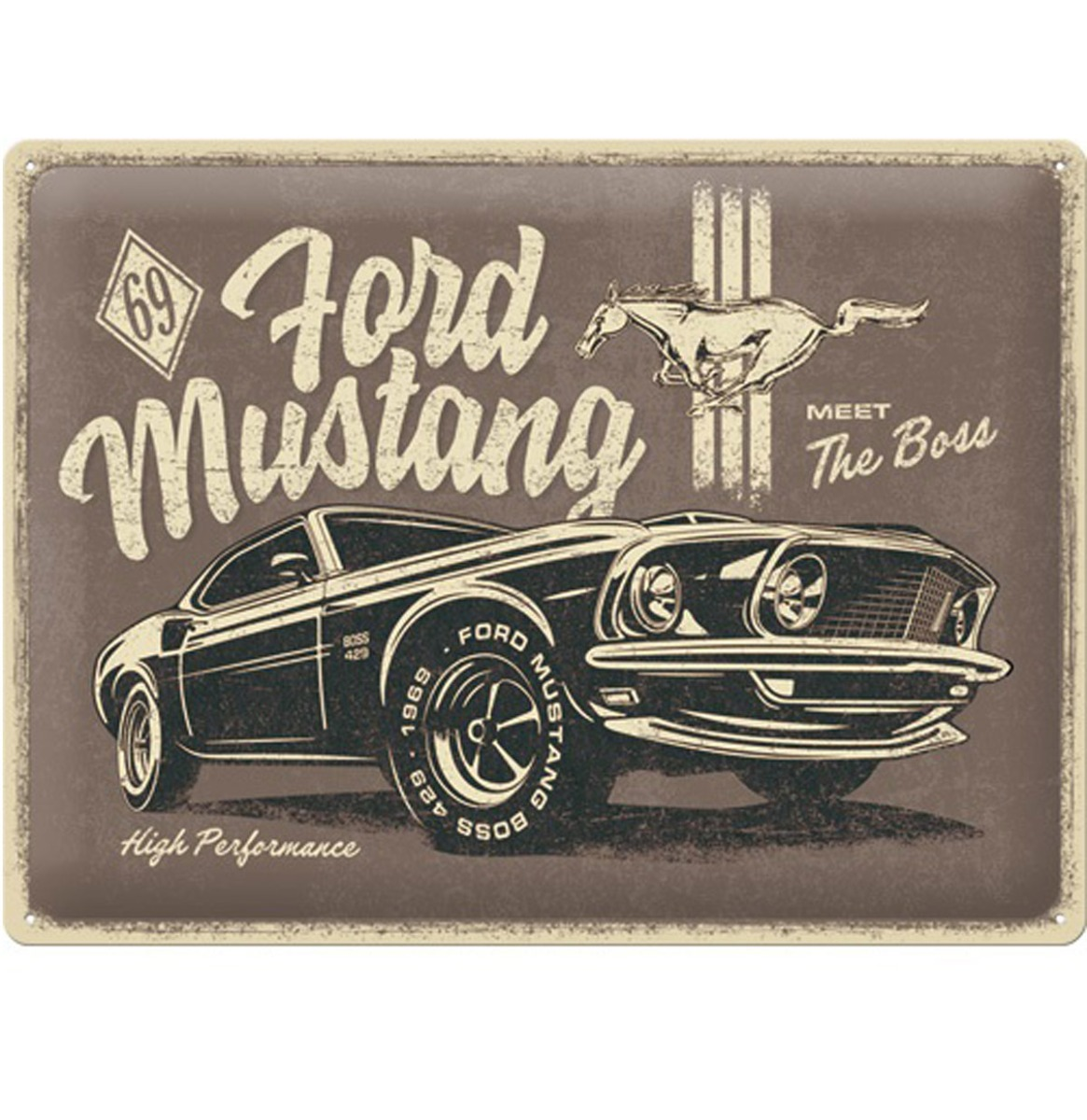 Tin Signs 30 x 40 cm Ford Mustang - The Boss