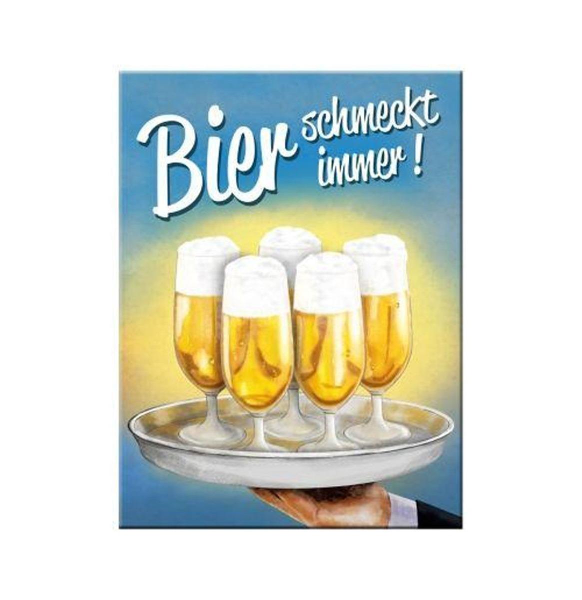 Magneet Bier Schmeckt Immer Tablett