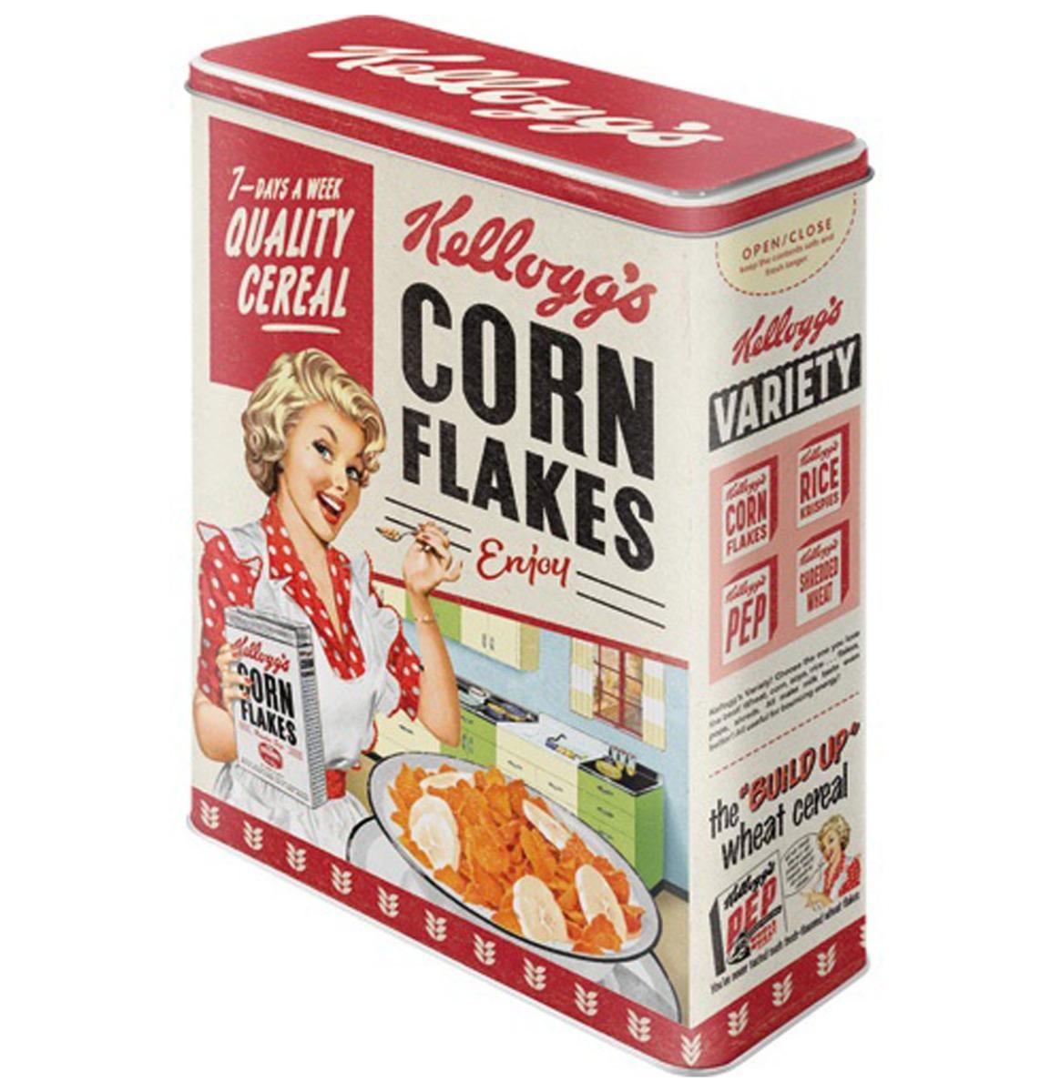 Tinnen Blik XL Kellogg's - Corn Flakes Quality Cereal