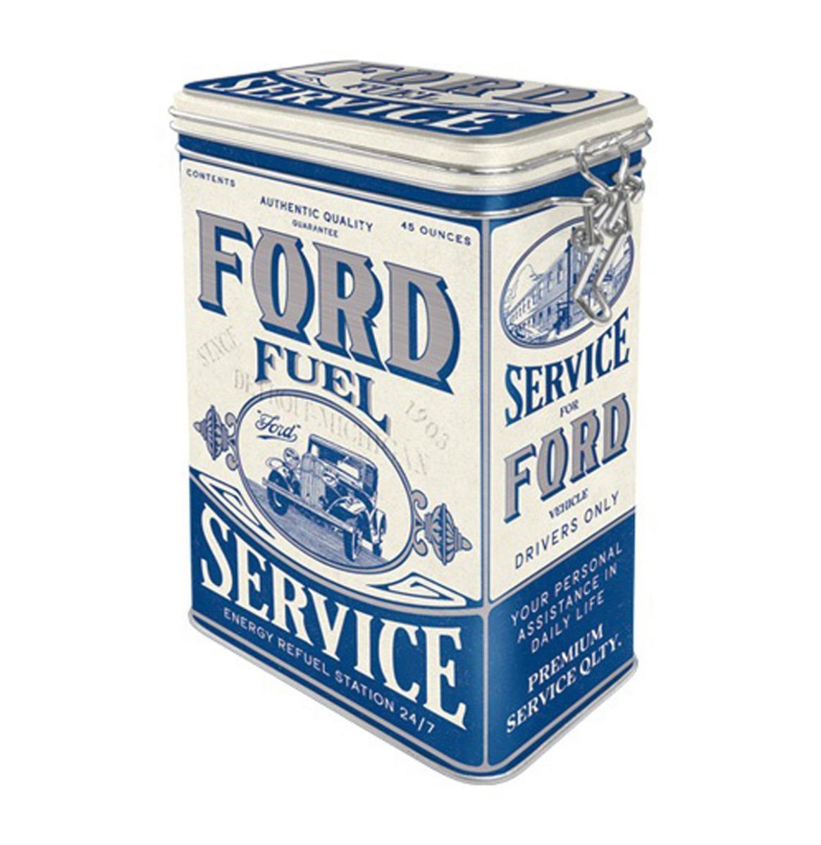 Tinnen Blik Met Klipsluiting Ford - Fuel Service