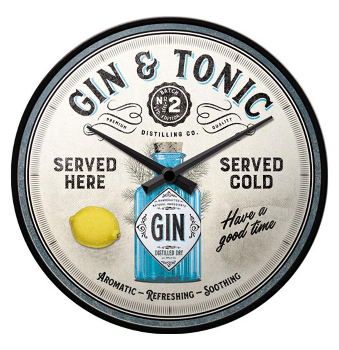 Wandklok Gin & Tonic Served Here