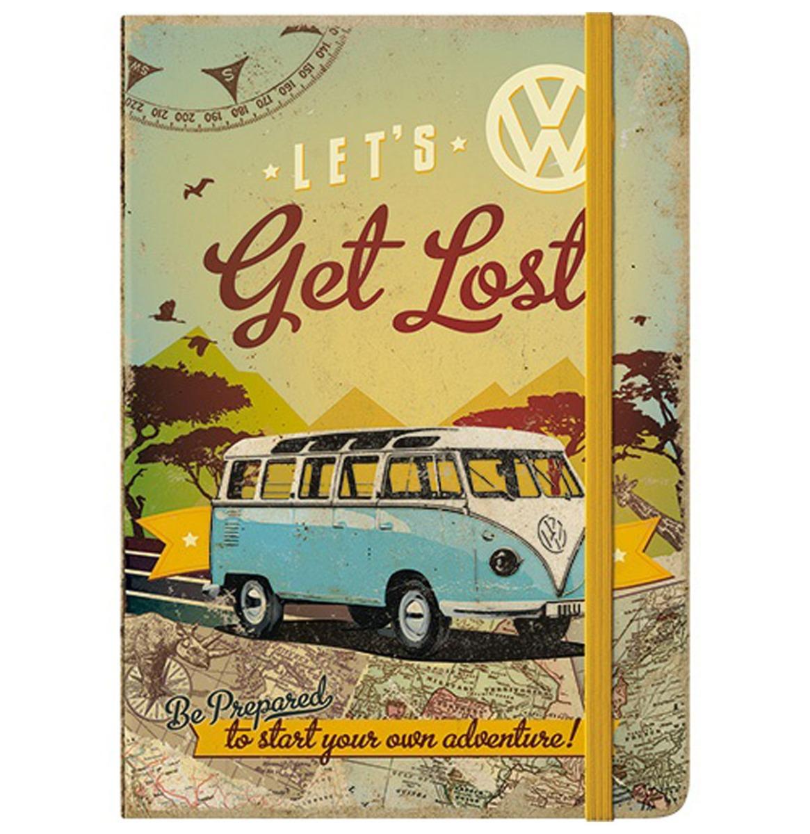 Notitieboek Volkswagen Bulli - Let's Get Lost