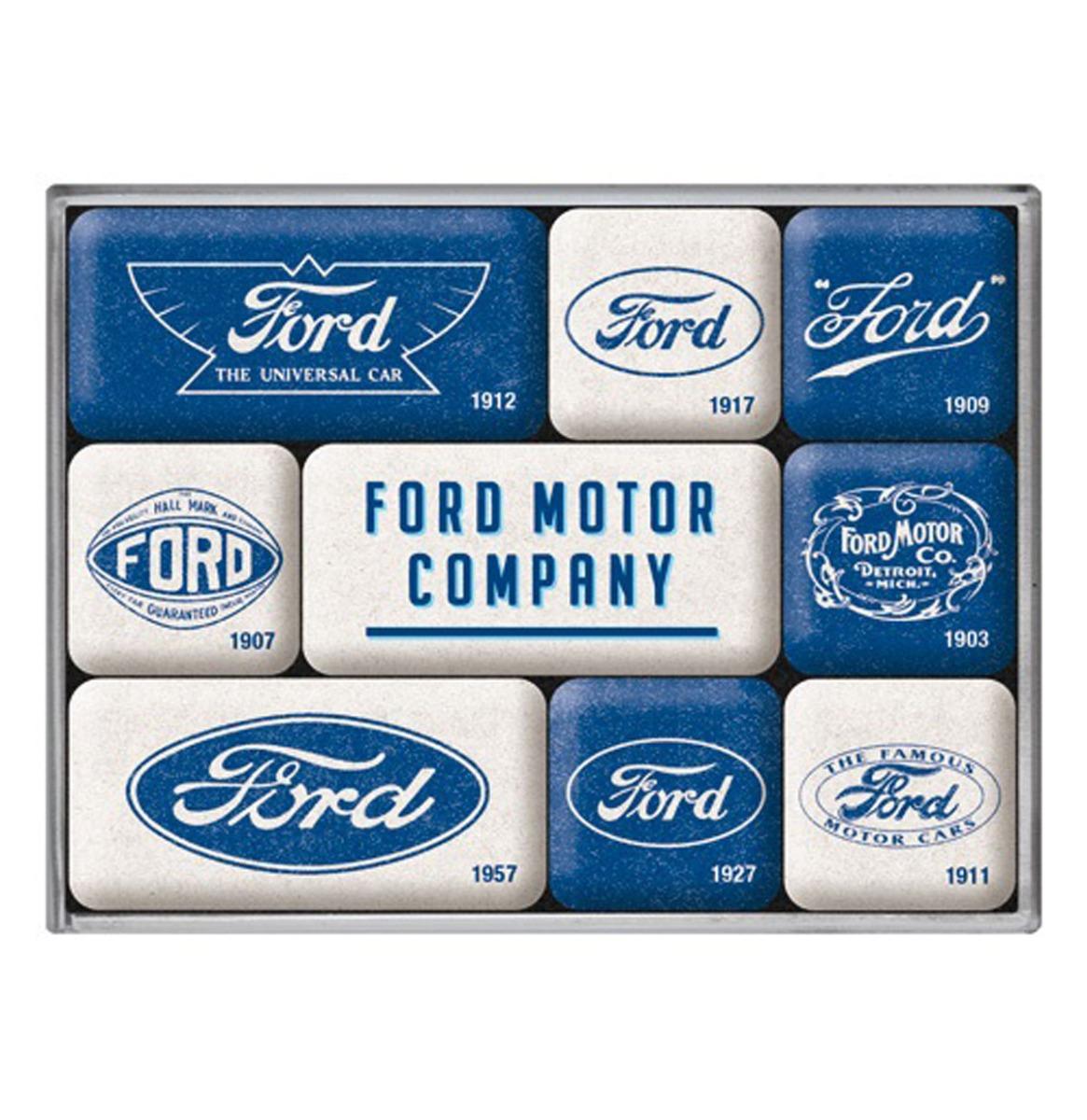 Magneet Set Ford - Logo Evolutie