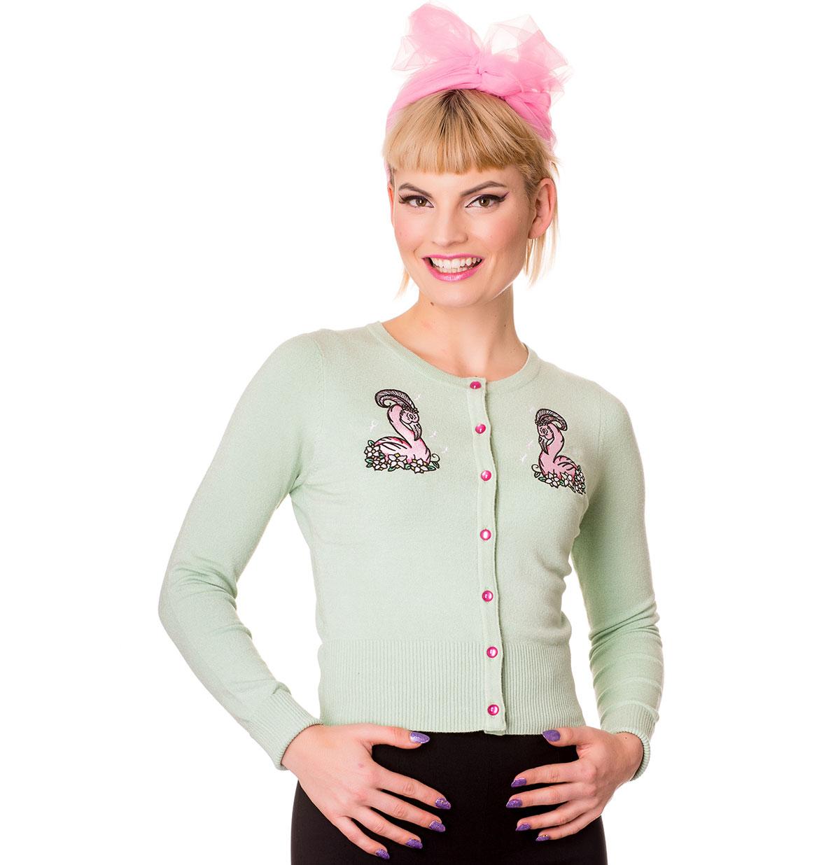 Hell Bunny Nancy Cardigan Vestje, Mint