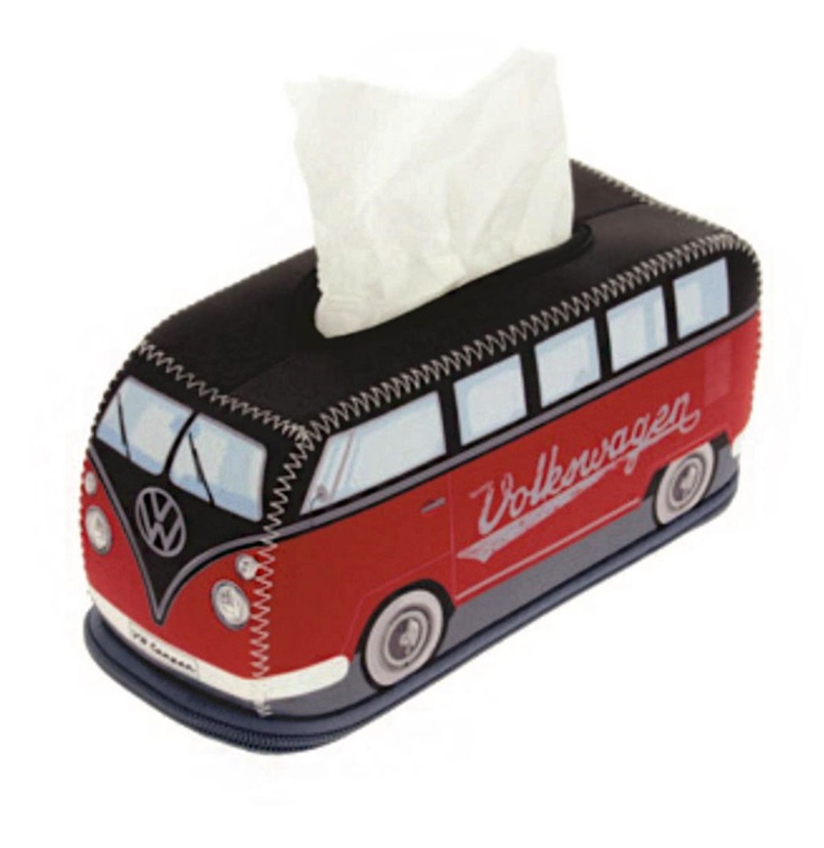 Volkswagen T1 Bus Neopreen Tissue Box Houder Rood / Zwart