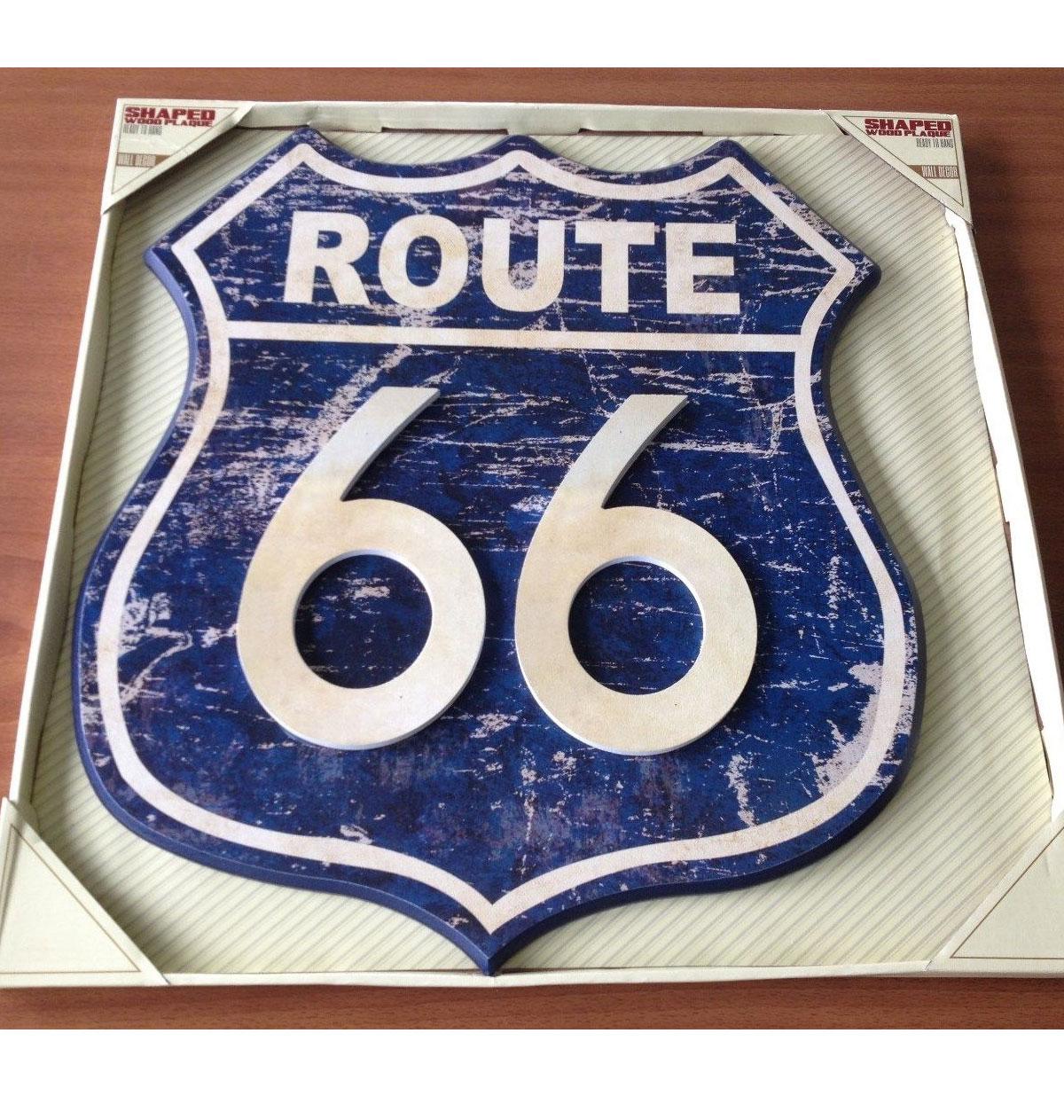Route 66 Houten Bord
