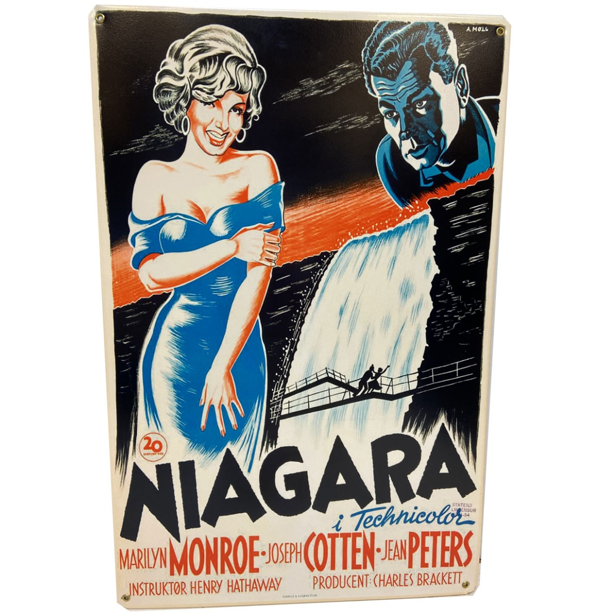 Marilyn Monroe Niagara Movie Poster Metalen Bord 29.5 x 44.5 cm