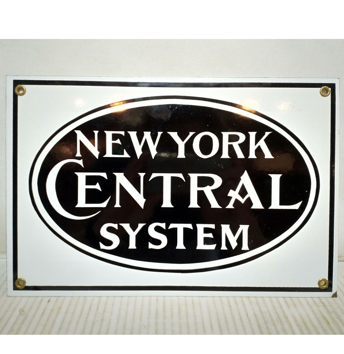 New York Central System Emaille Bord Groot