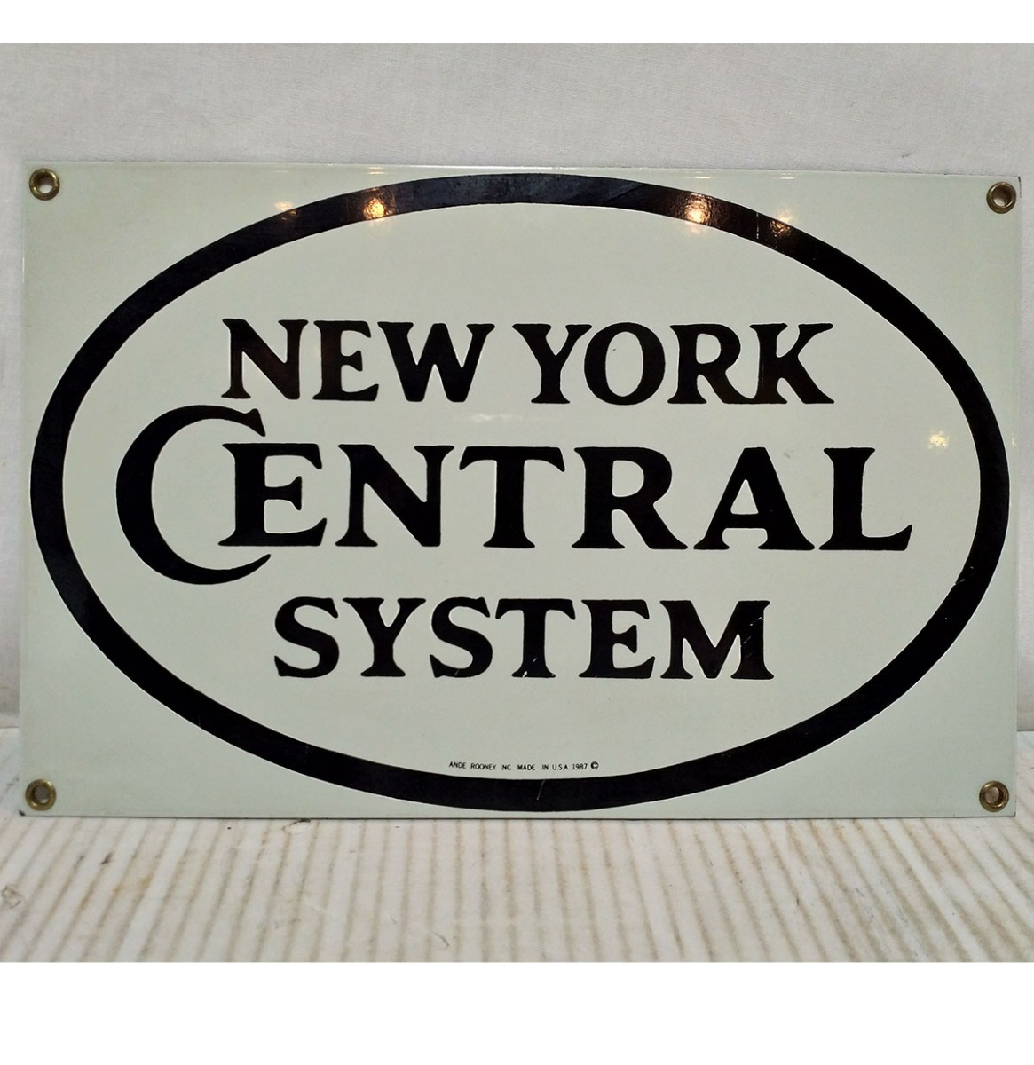 New York Central System Emaille Bord Klein