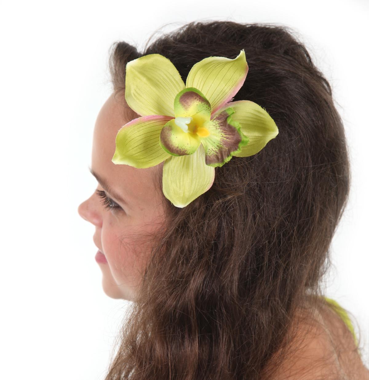 Orchid Hair Clip Green