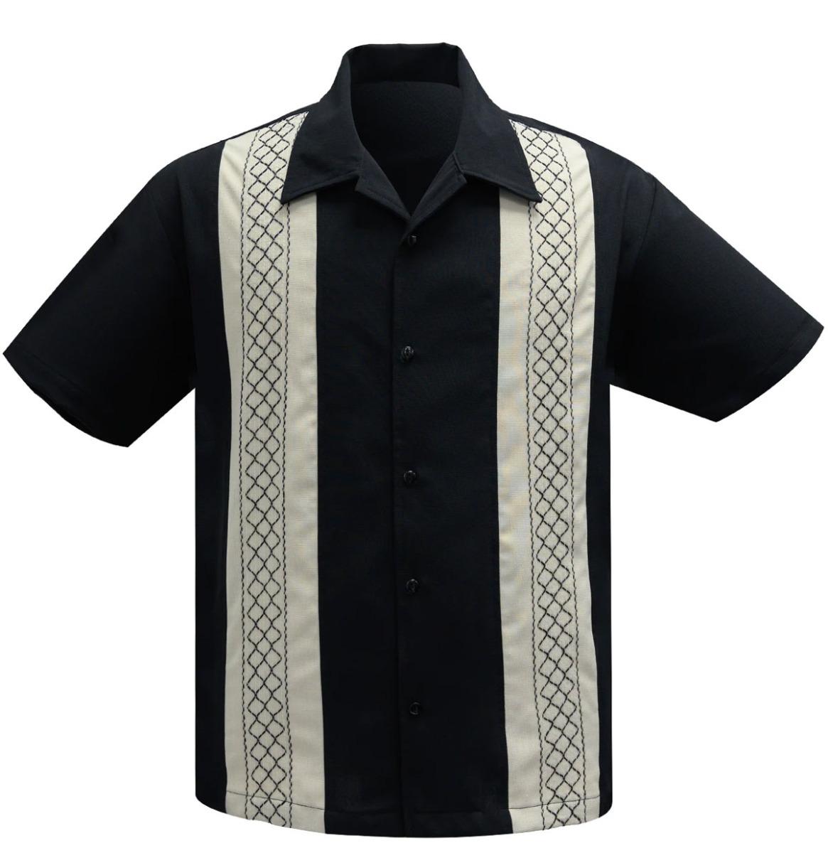 Steady Clothing The Oscar Shirt Zwart / Beige