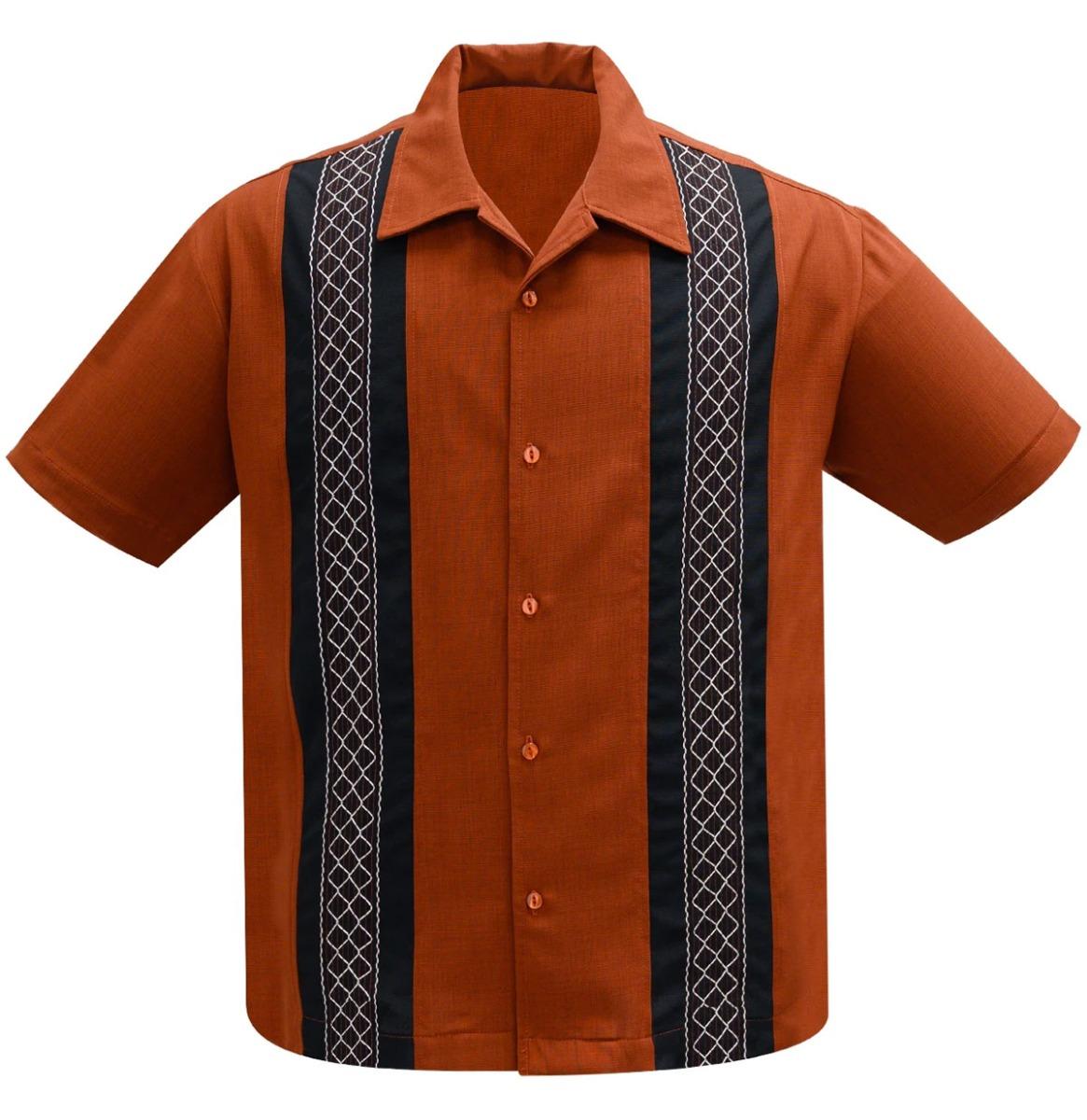 Steady Clothing The Oscar Shirt Rust / Black