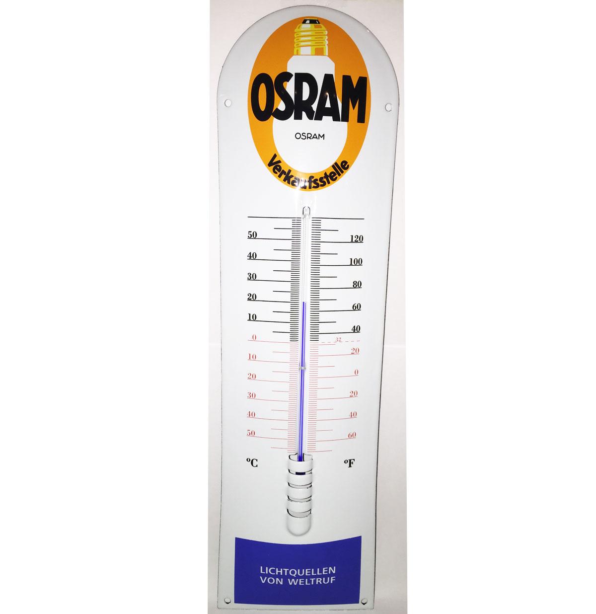 Osram Light Verkaufsstelle Emaille Thermometer