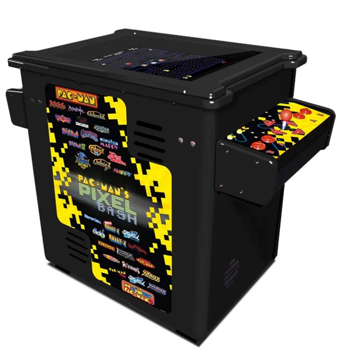 Namco Pac-Man Pixel Bash Cocktail Tafel Thuis Editie - Zwart 32 Spellen