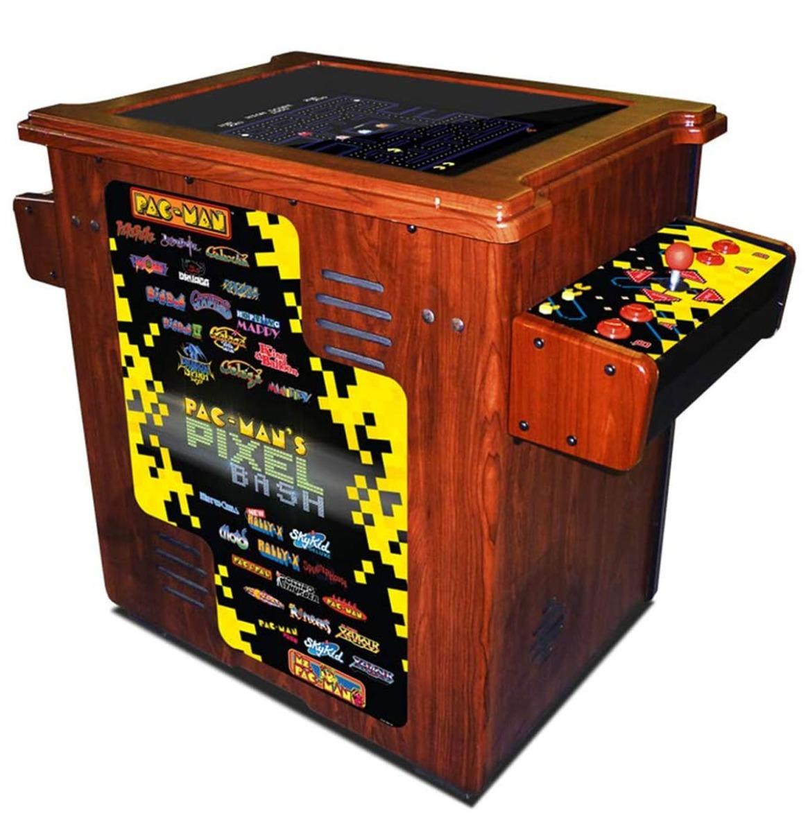 Namco Pac-Man Pixel Bash Cocktail Tafel Thuis Editie - Houtnerf 32 Spellen