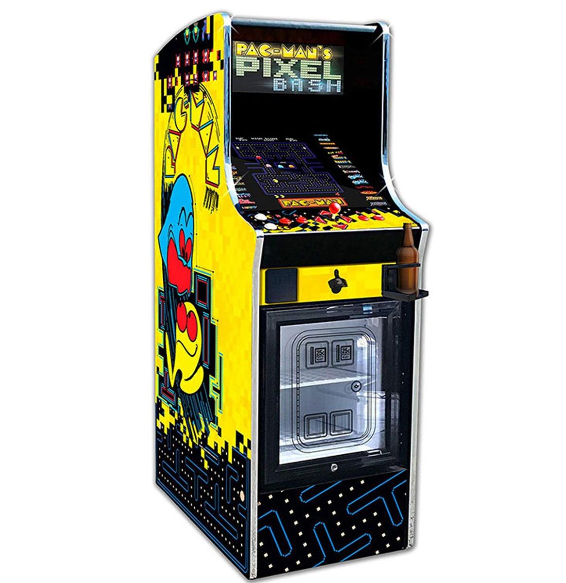 Namco Pac-Man's Pixel Bash Arcade Spel Home Upright Game Met Koelkast 32 Spellen