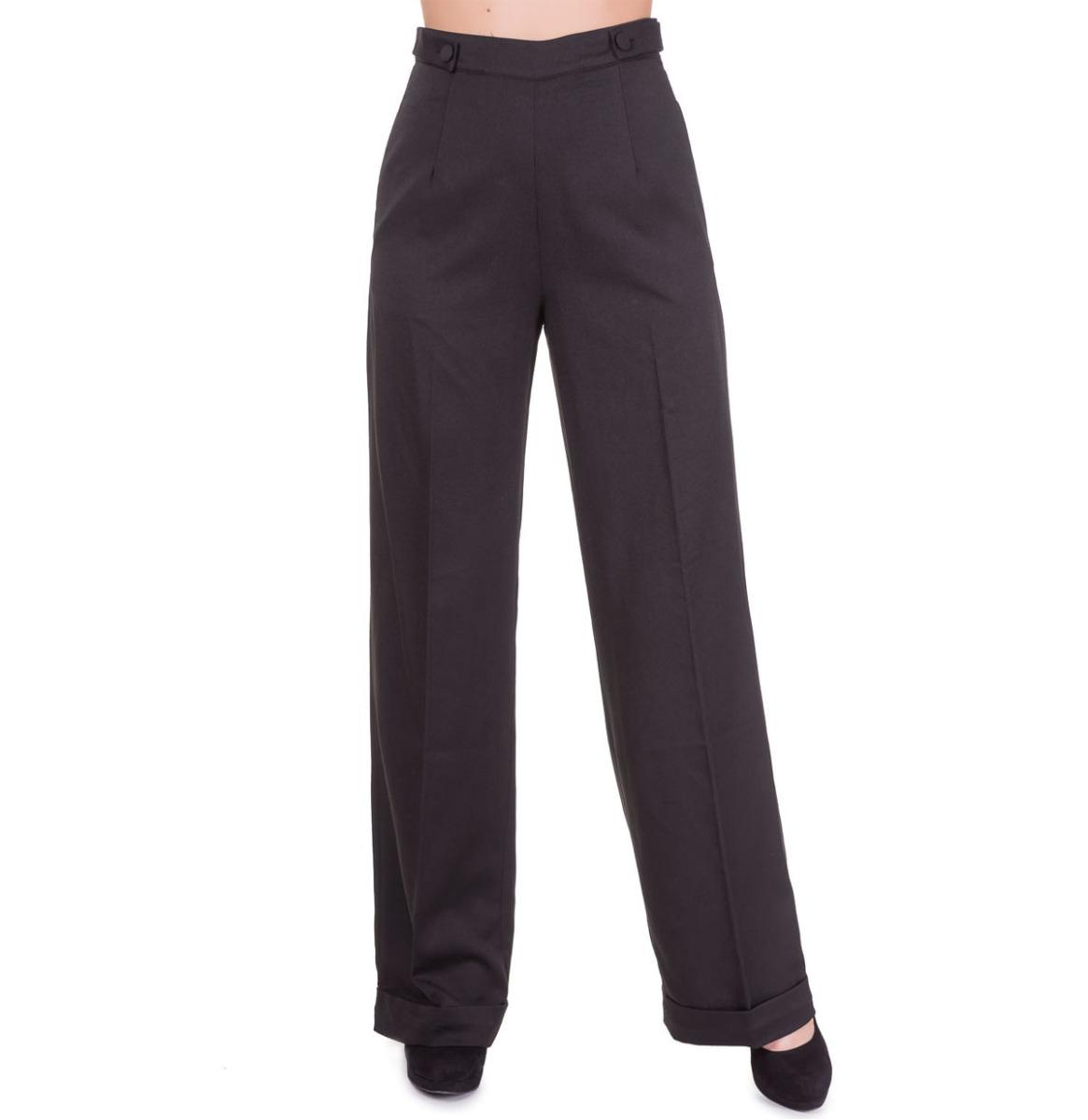Banned Party On Pantalon Zwart