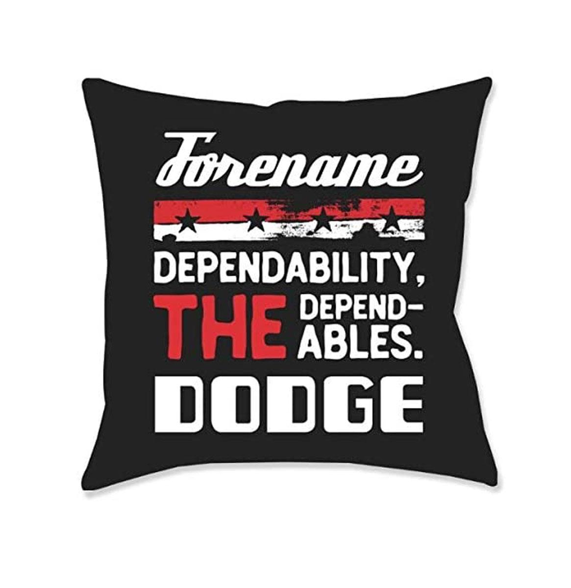 Gepersonaliseerd Dodge Dependables Kussen - Zwart (40x40 cm)
