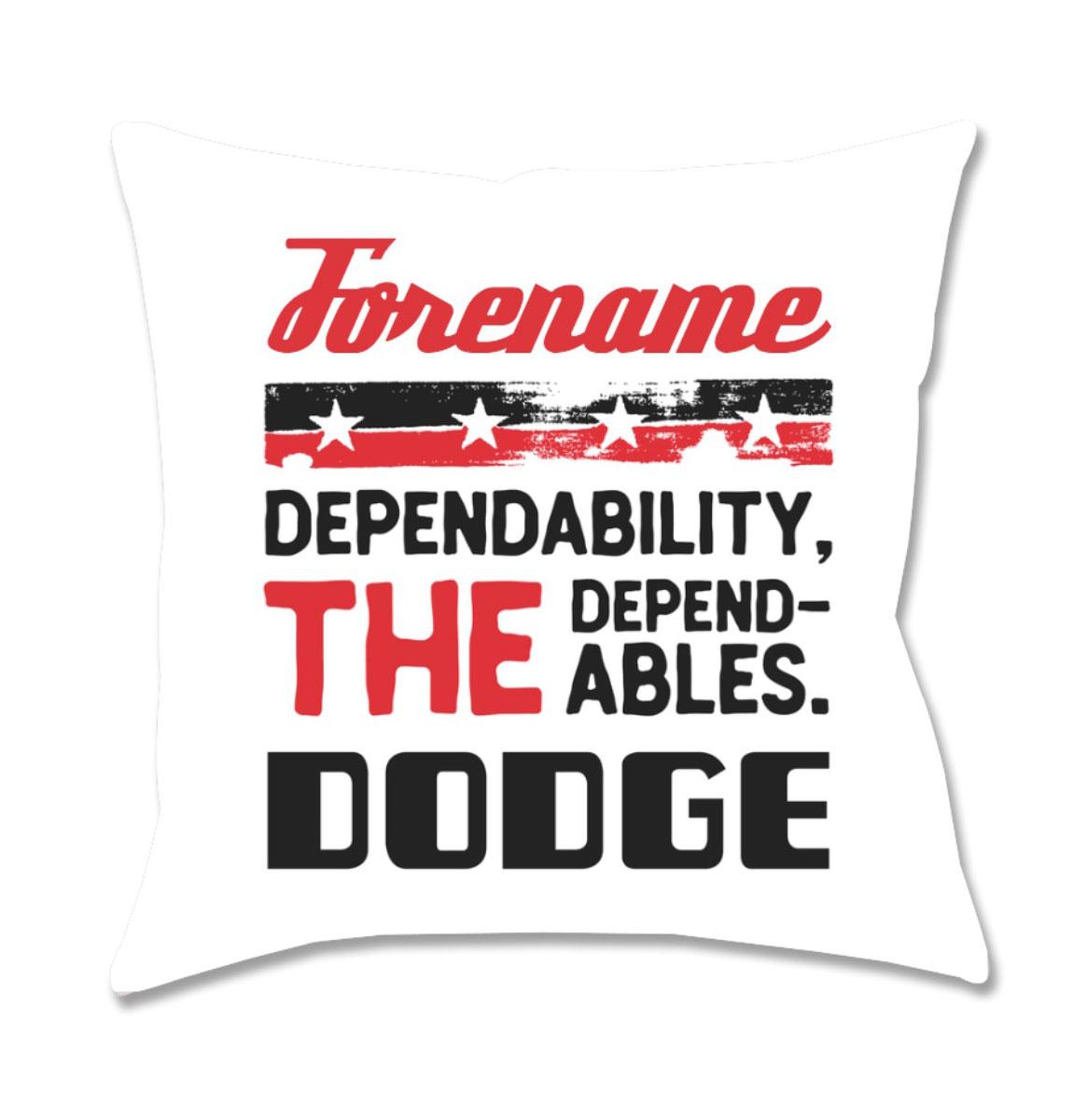 Gepersonaliseerd Dodge Dependables Kussen - Wit (40x40 cm)