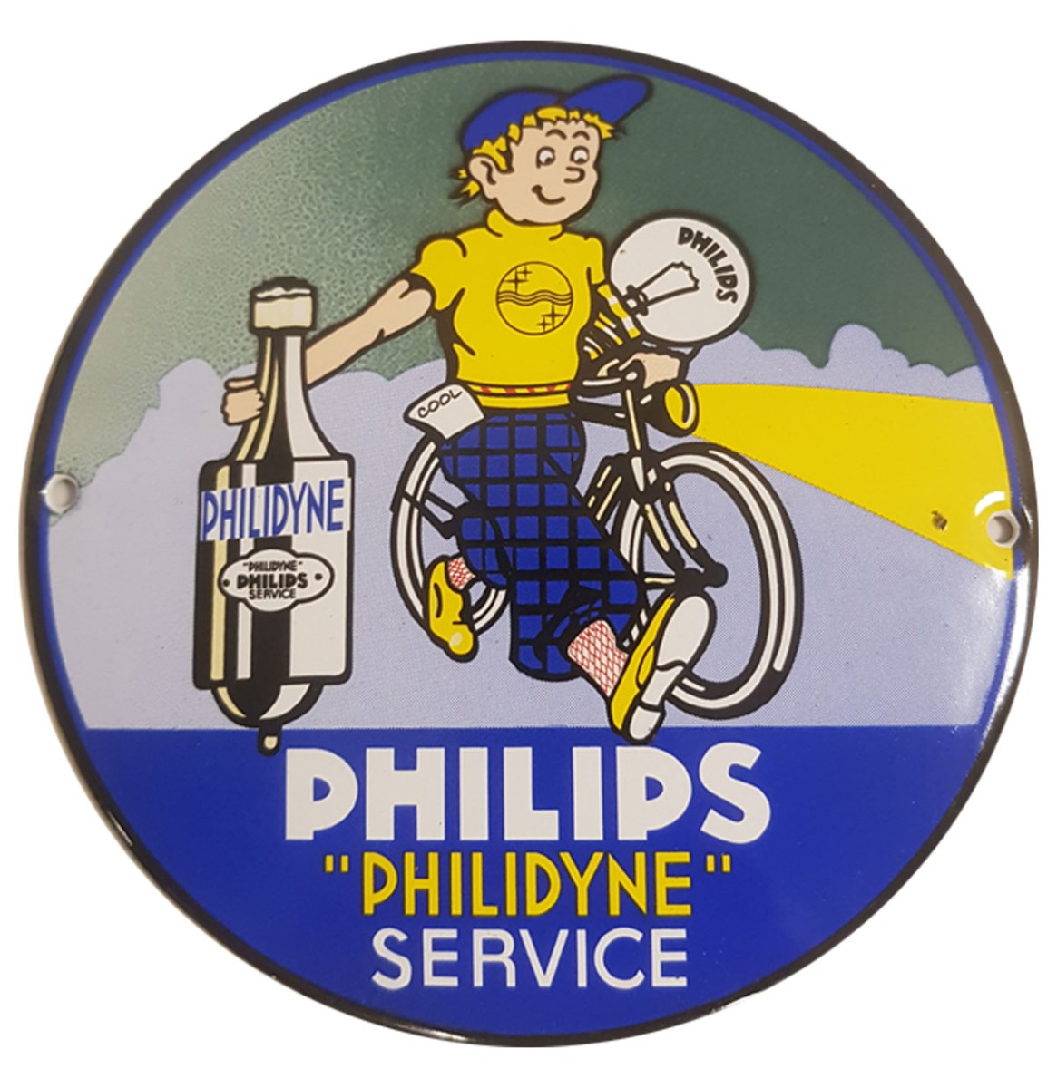 """Philips """"Philidyne"""" Service Emaille Bord - 13 cm ø"""