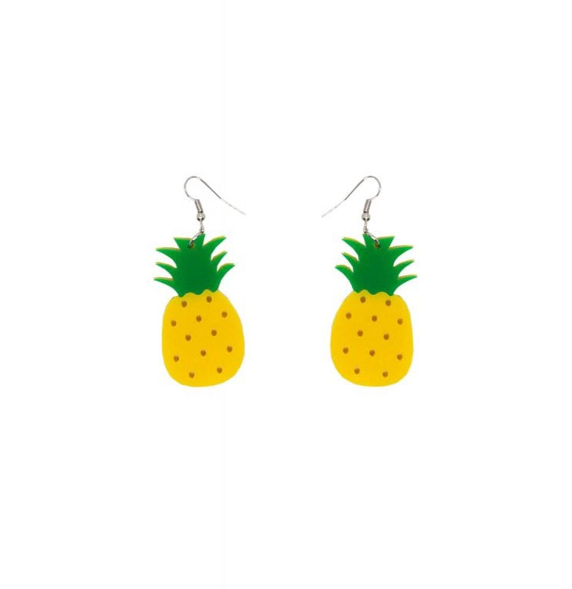 Pineapple Acrylic Drop Earrings
