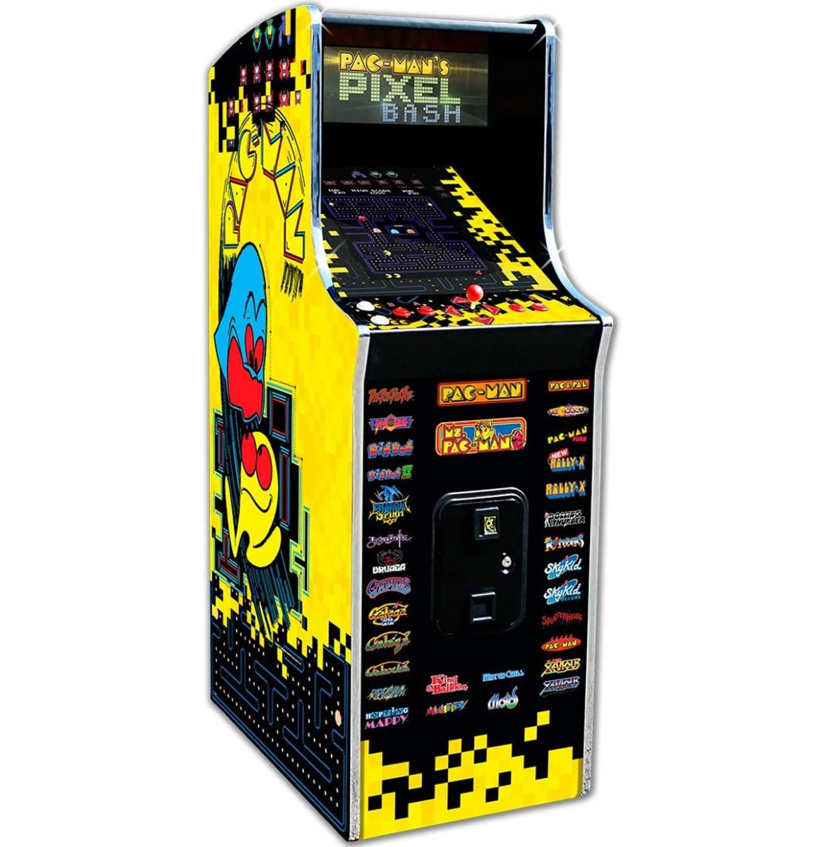 Namco Pac-Man's Pixel Bash Arcade Game Home Upright Game 32 Spellen
