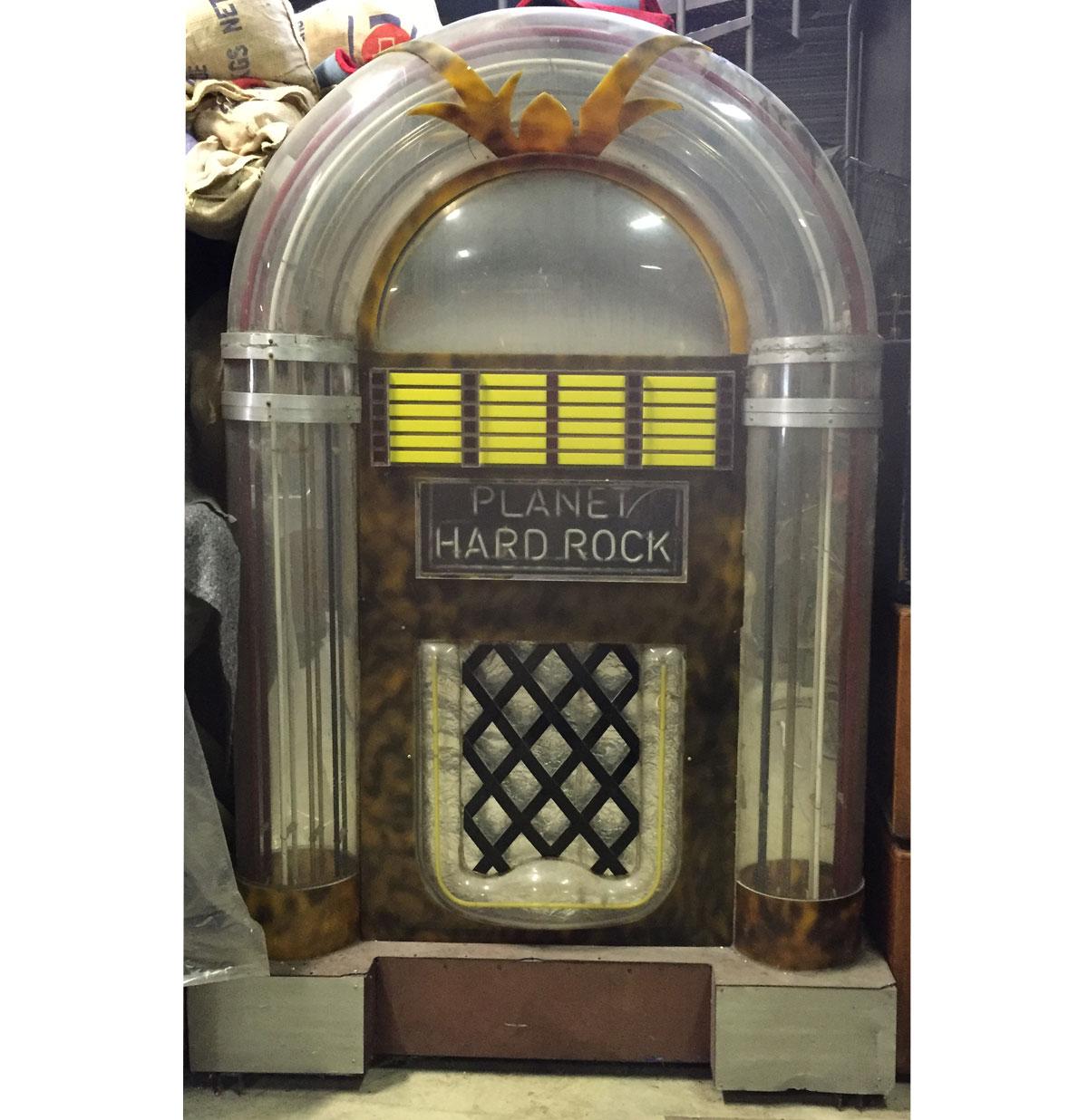 Mega jukebox Decor 'Planet Hard Rock' met neon 2,5 meter