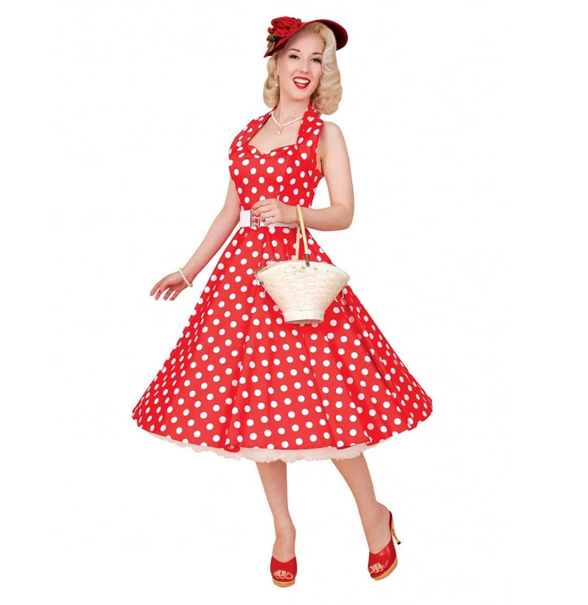 Polka Dress Red/White