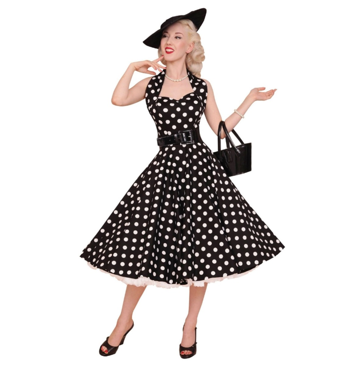 Polka Dress Black/White