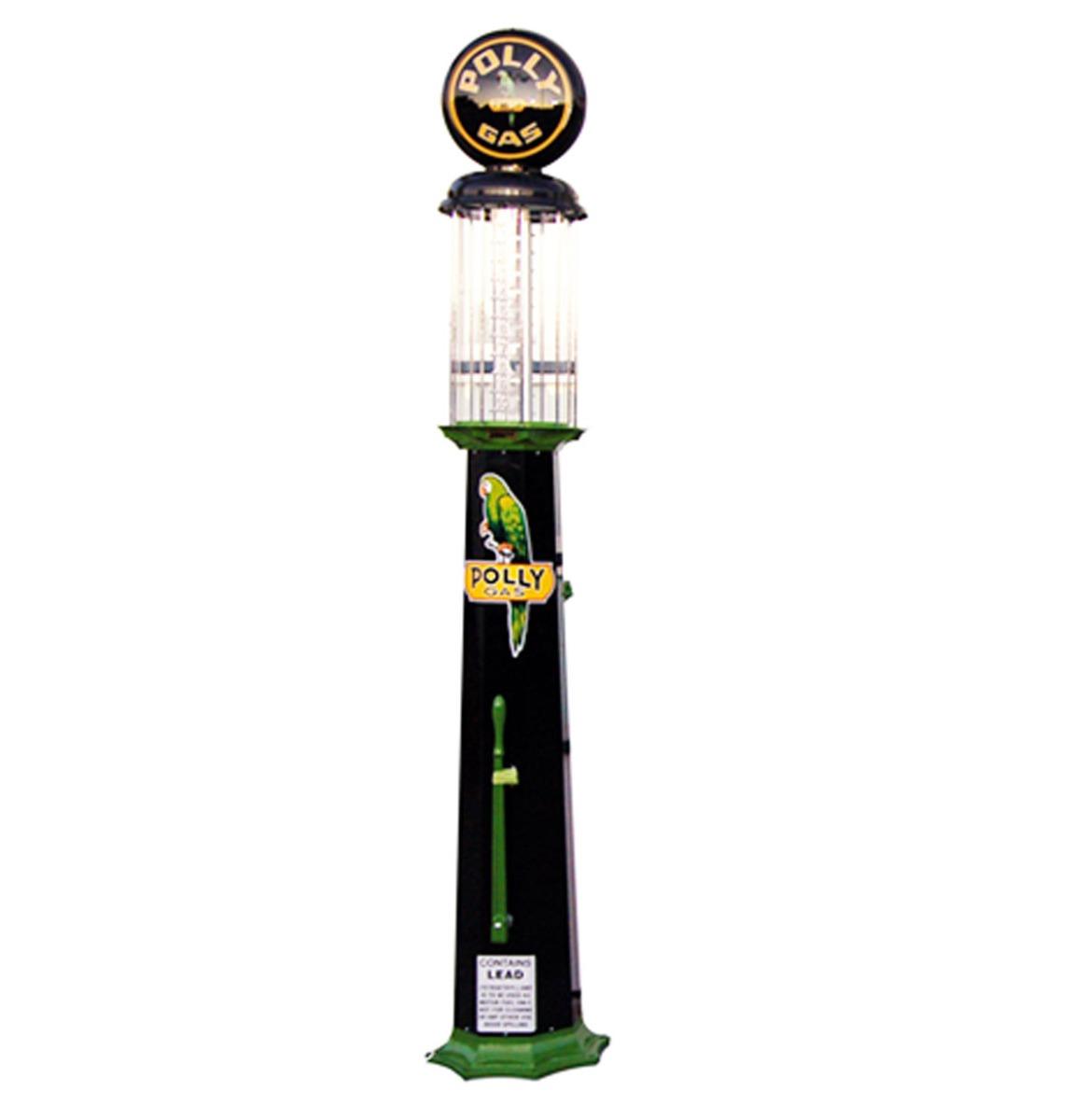 American Polly Gas 10 Gallon Benzinepomp - Zwart & Groen - Reproductie