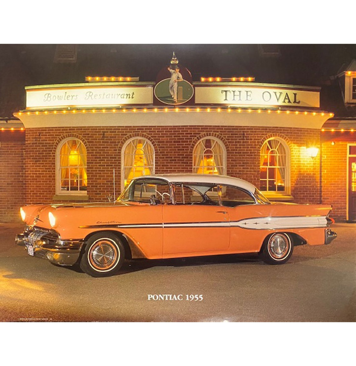 Auto Poster Pontiac 1955 40x50 cm