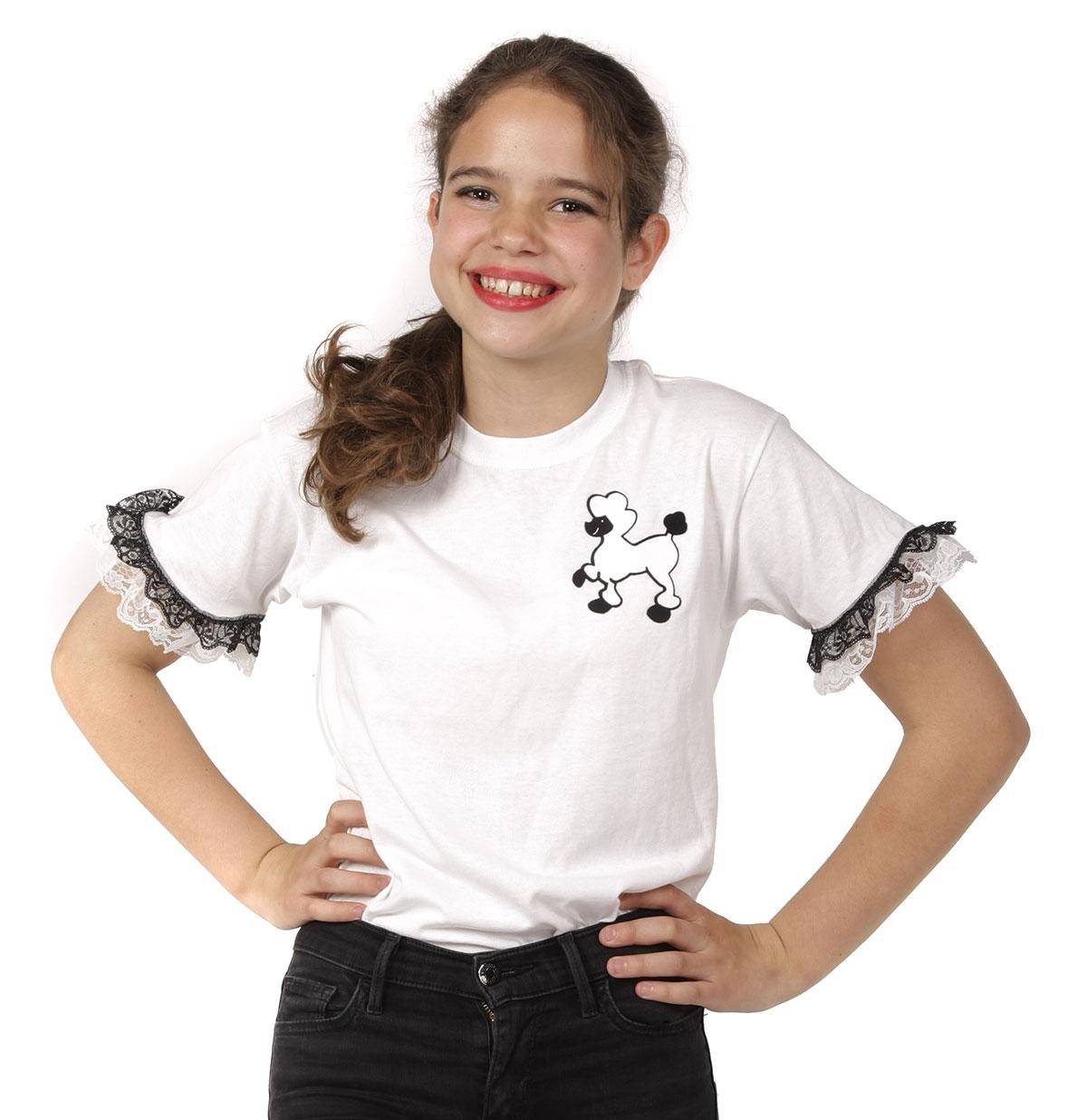 Kids Poedel T-Shirt Wit