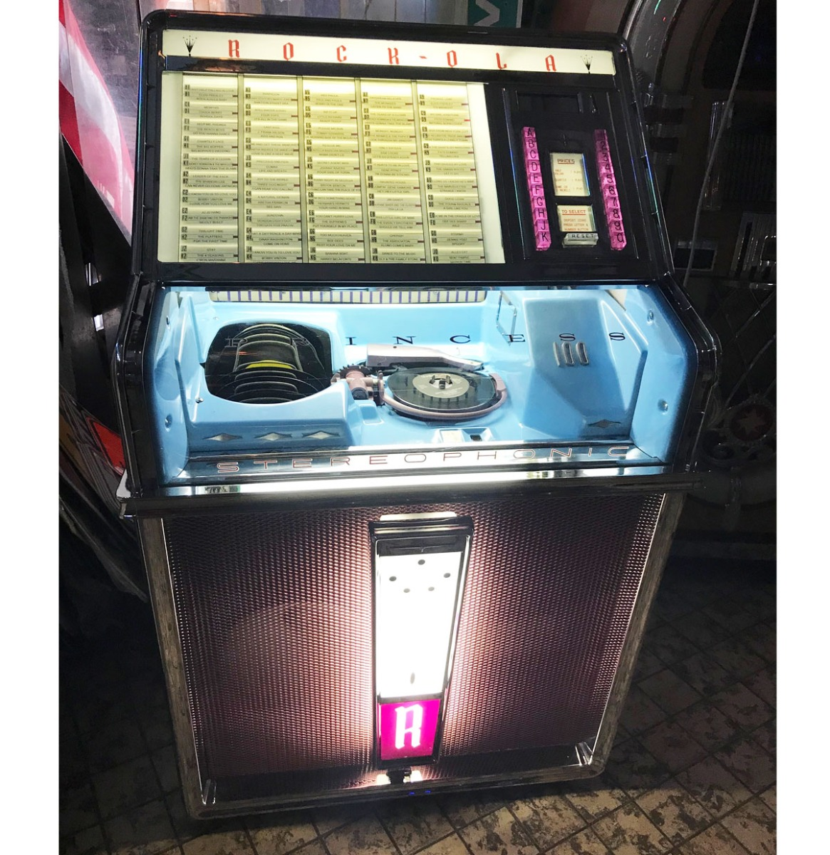 Rock-Ola 1493 Princess Jukebox 1962 - Gerestaureerd