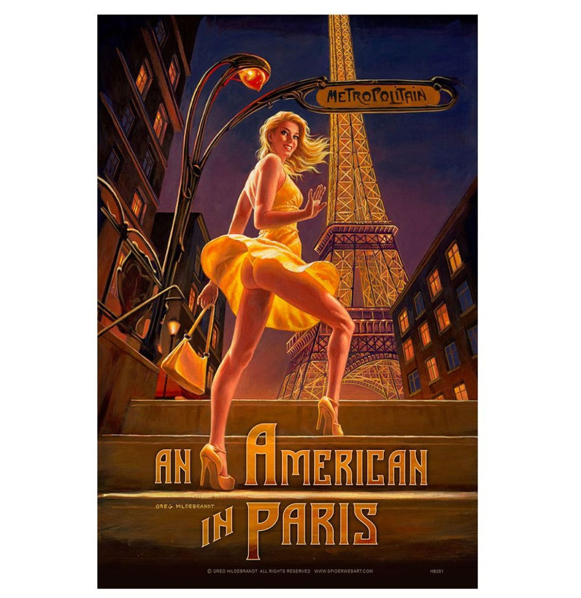 An American In Paris Pinup Metalen Bord 29 x 44,5 cm