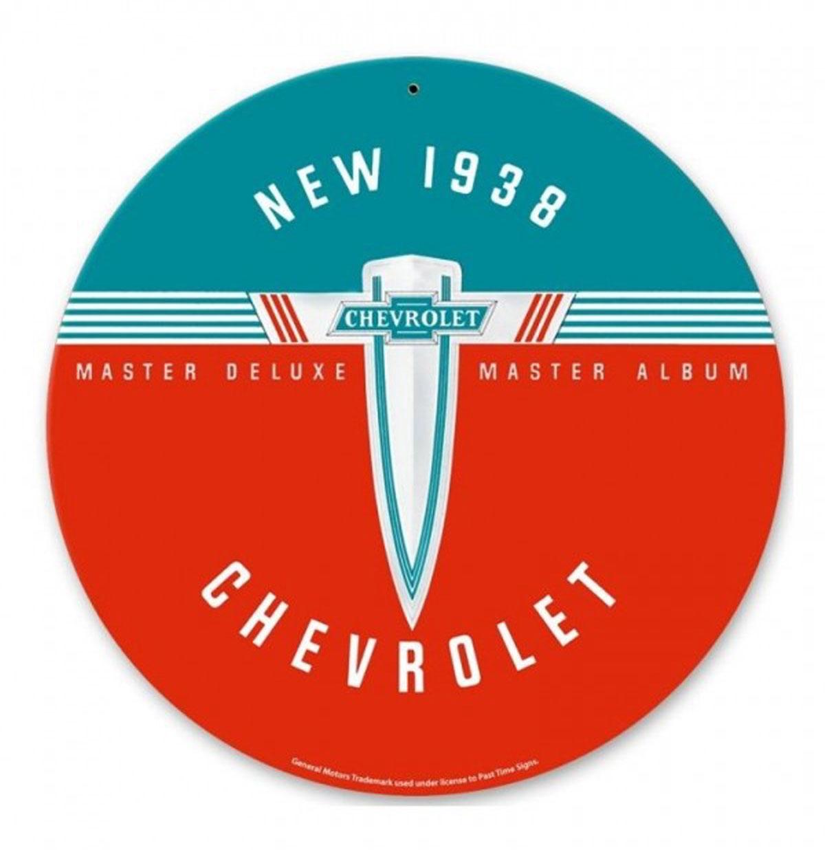 New 1938 Chevrolet Zwaar Metalen Bord