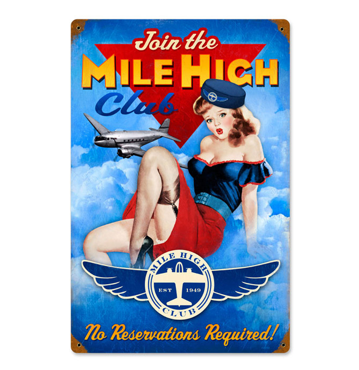 Join the Mile High Club Zwaar Metalen Bord