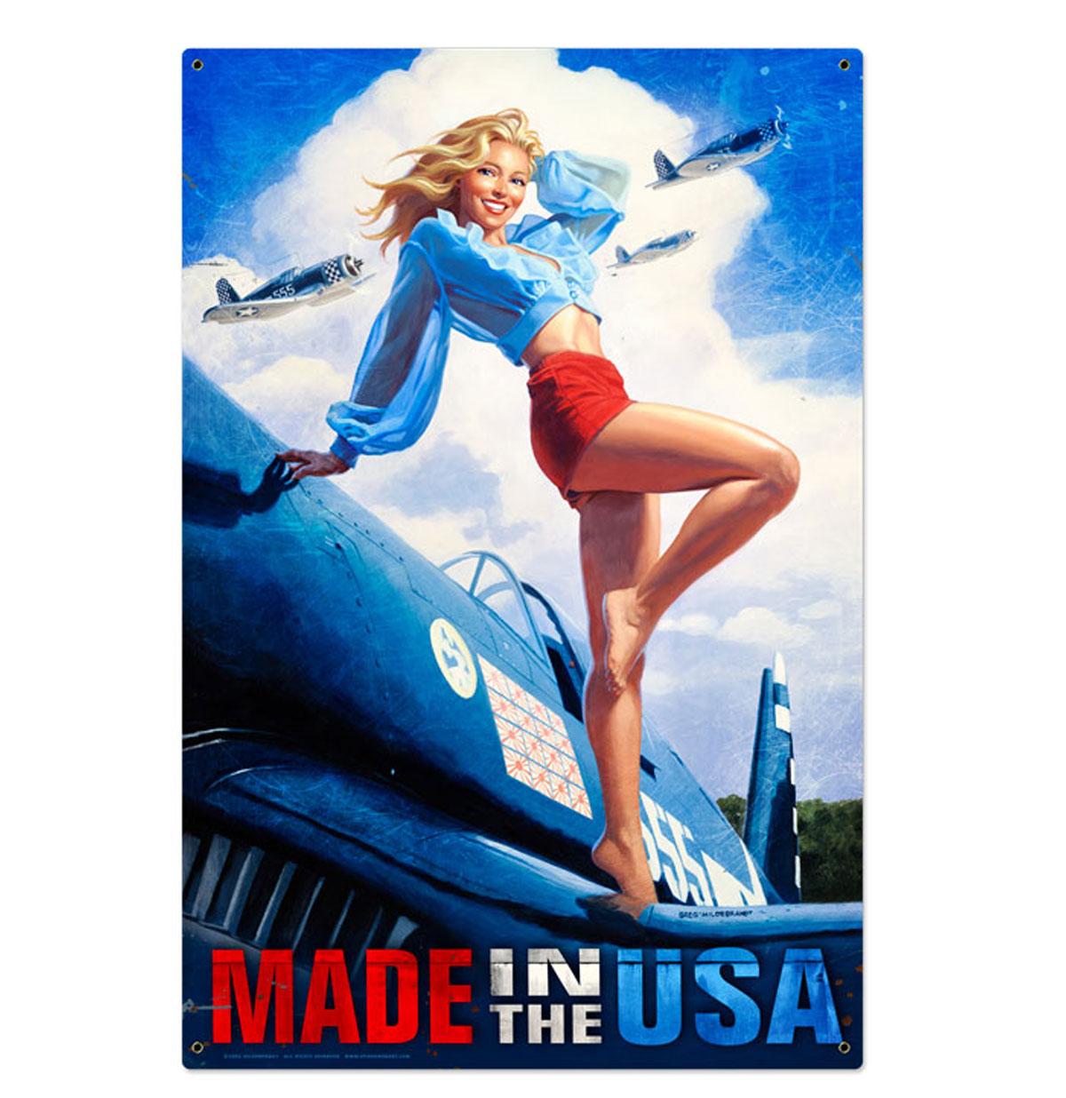 Made in the USA American Beauty Zwaar Metalen Bord XL