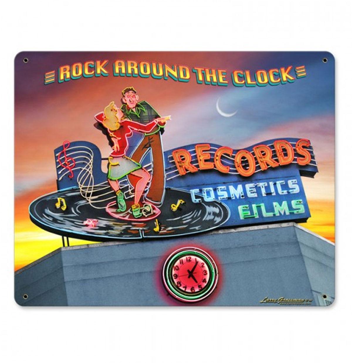 Rock Around The Clock Records Cosmetic Films Zwaar Metalen Bord 37 x 29 cm