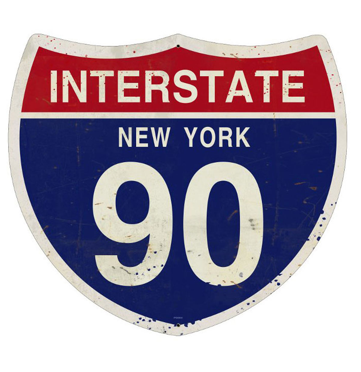 Interstate 90 New York Zwaar Metalen Bord