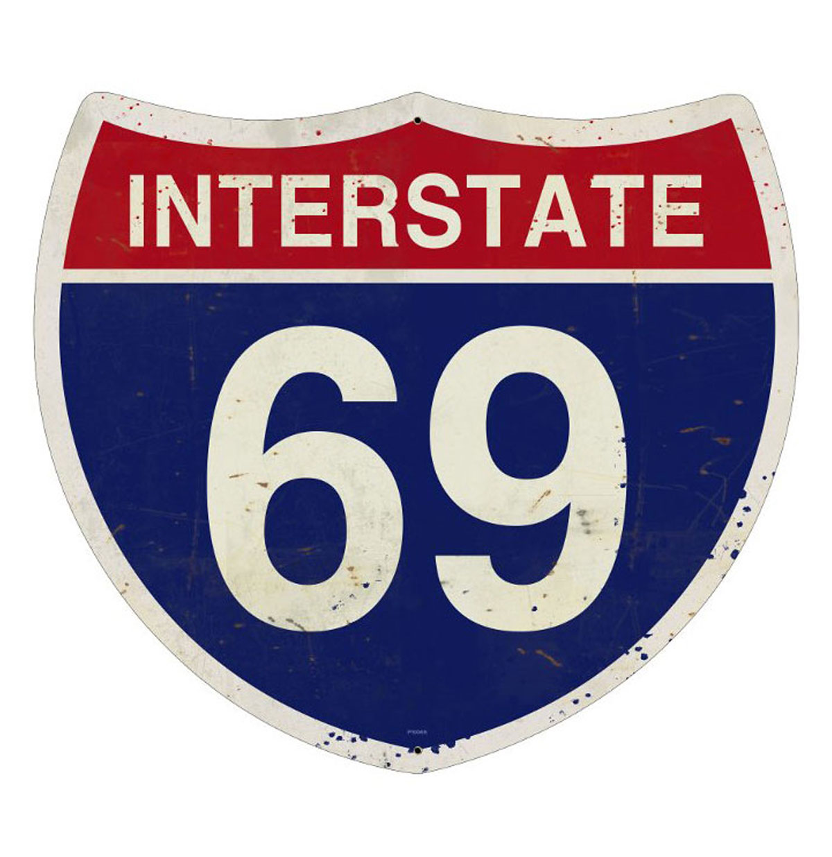 Interstate 69 Highway Heavy Gauge Metal Sign