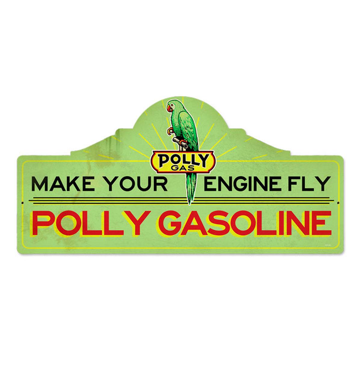 Polly Gas Polly Gasoline Zwaar Metalen Bord